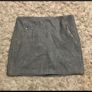 GAP wool skirt with zipper pockets